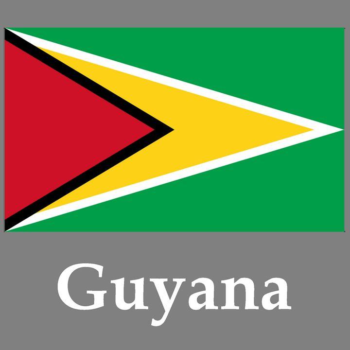 Guyana Flag And Name - My Evil Twin