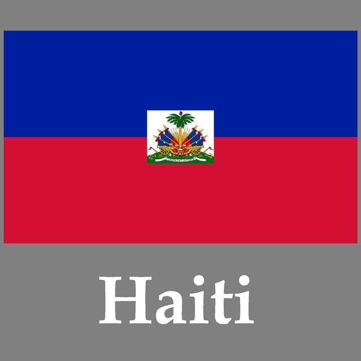 Haiti Flag And Name - My Evil Twin