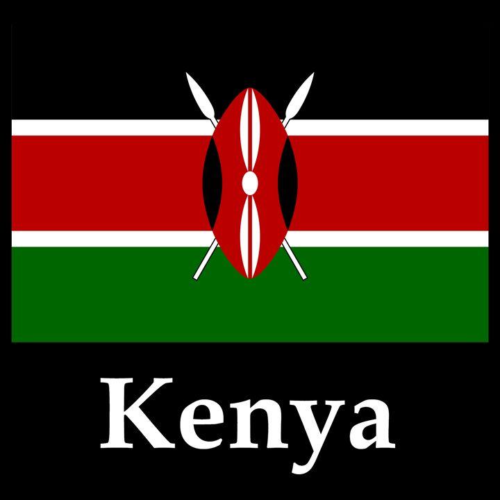Kenya Flag And Name - My Evil Twin