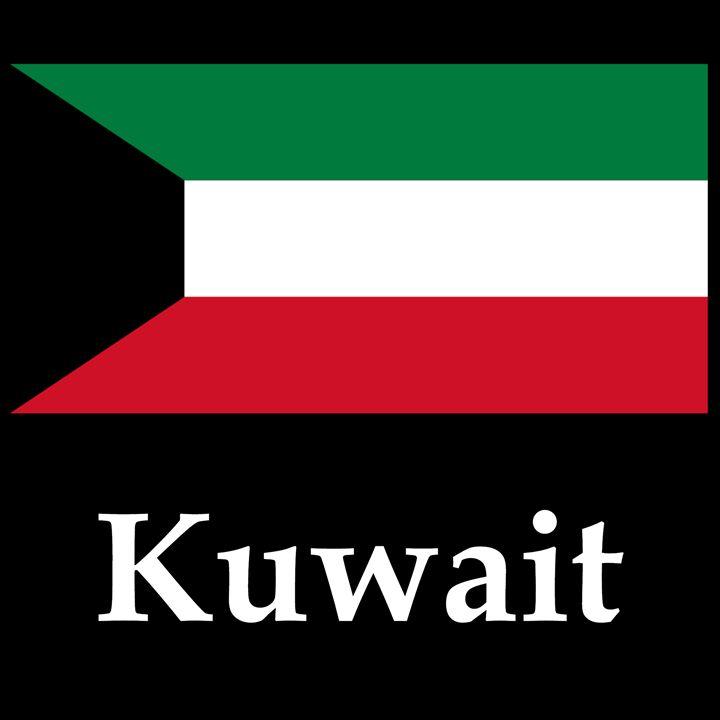 Kuwait Flag And Name - My Evil Twin