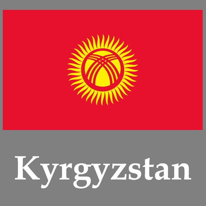 Kyrgyzstan Flag And Name - My Evil Twin