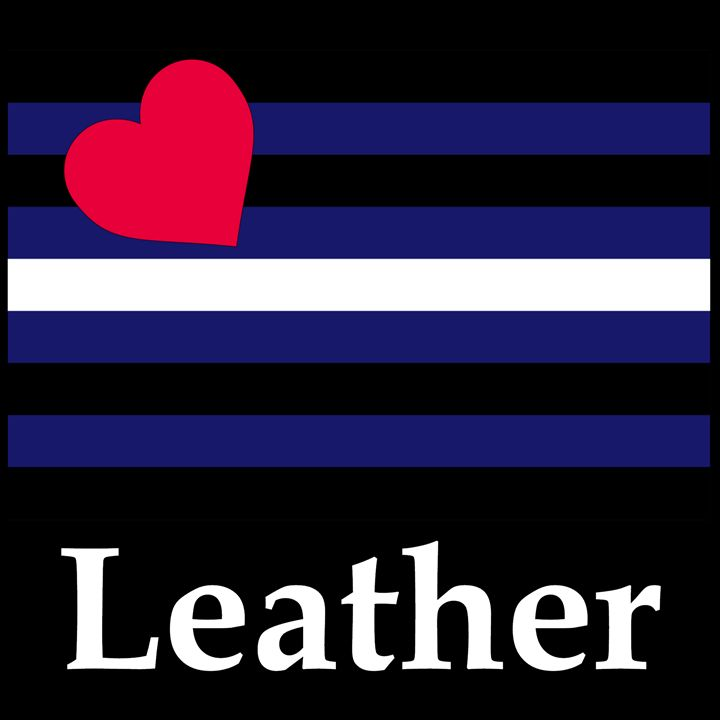 Leather Flag And Name - My Evil Twin
