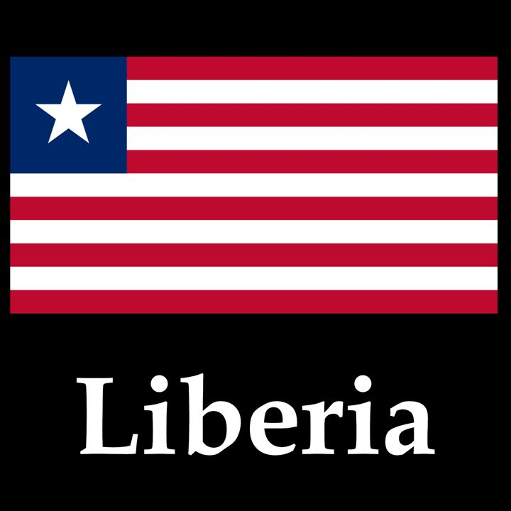 Liberia Flag And Name - My Evil Twin