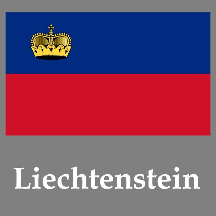 Liechtenstein Flag And Name - My Evil Twin