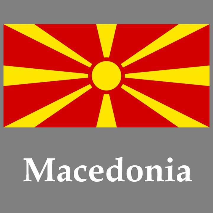 Macedonia Flag And Name - My Evil Twin