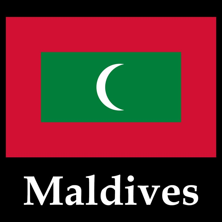 Maldives Flag And Name - My Evil Twin