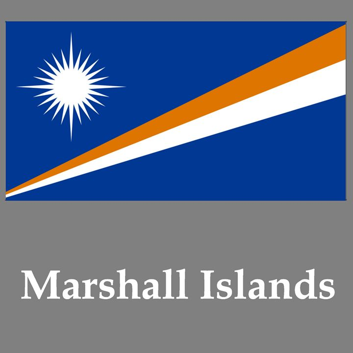 Marshall Islands Flag And Name - My Evil Twin