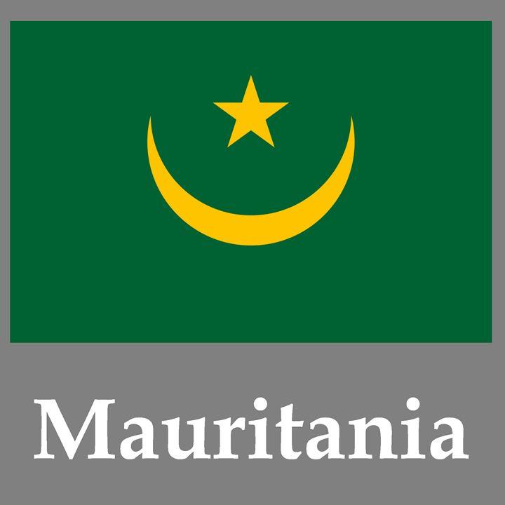 Mauritania Flag And Name - My Evil Twin