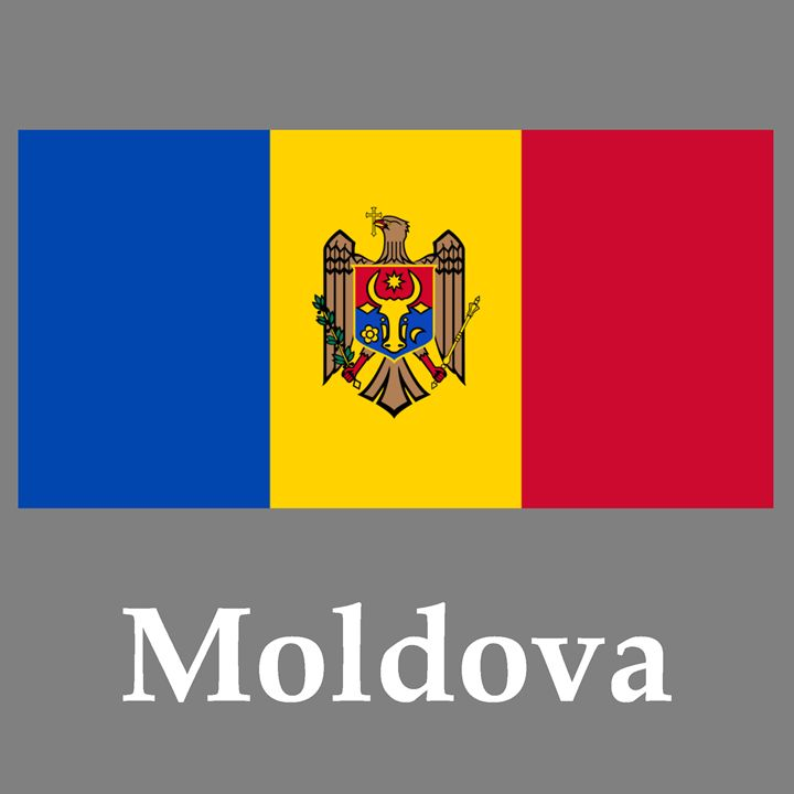 Moldova Flag And Name - My Evil Twin