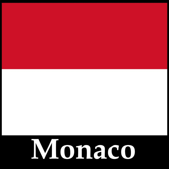 Monaco Flag And Name - My Evil Twin