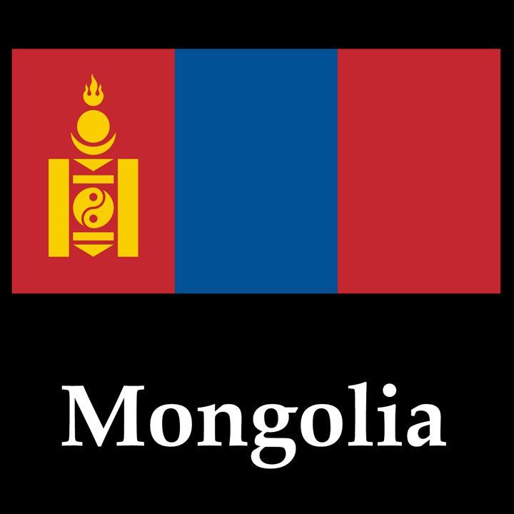 Mongolia Flag And Name - My Evil Twin