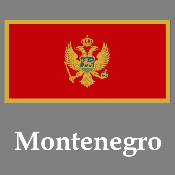 Montenegro Flag And Name - My Evil Twin