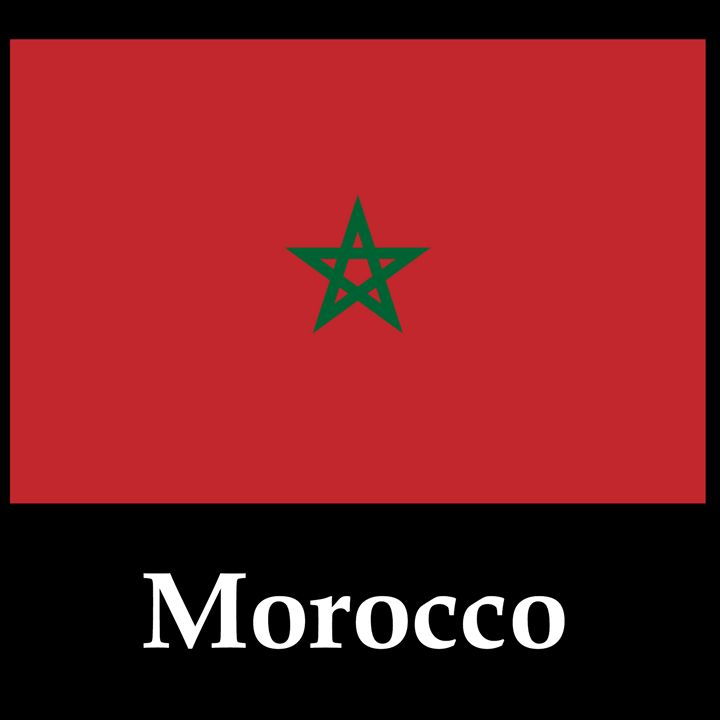 Morocco Flag And Name - My Evil Twin