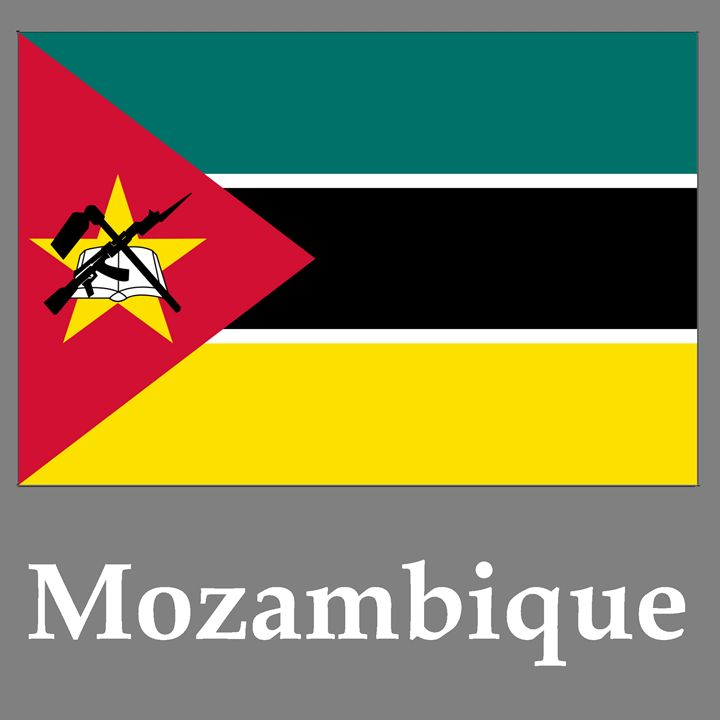 Mozambique Flag And Name - My Evil Twin