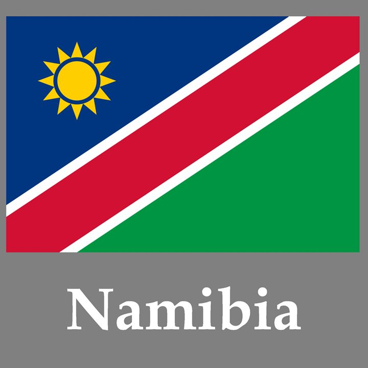Namibia Flag And Name - My Evil Twin