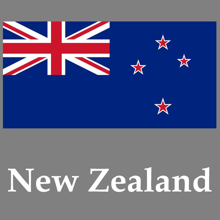 New Zealand Flag And Name - My Evil Twin