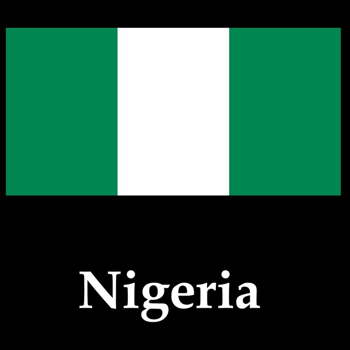 Nigeria Flag And Name - My Evil Twin