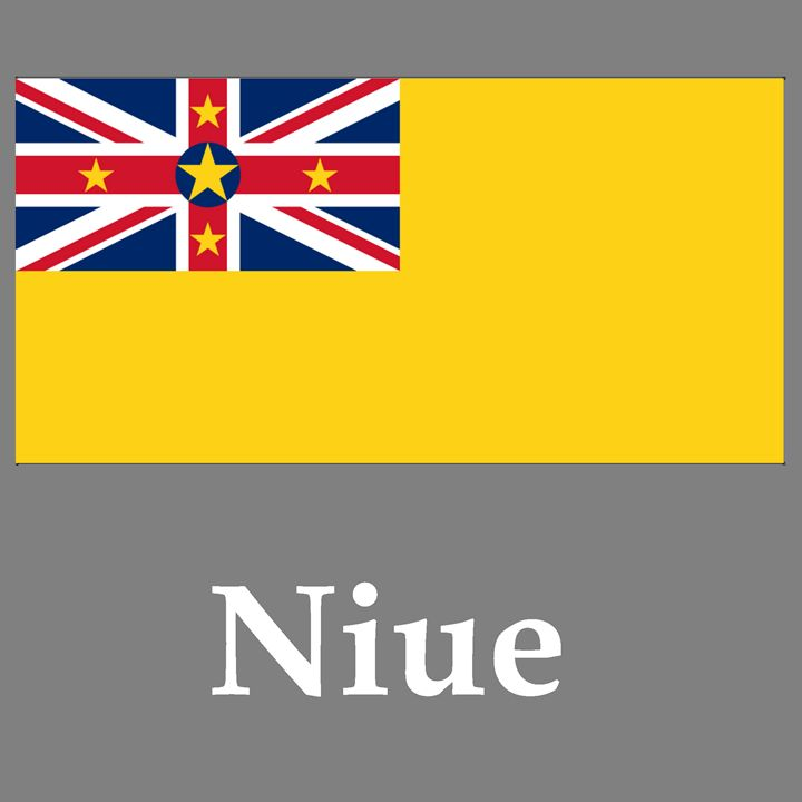 Niue Flag And Name - My Evil Twin