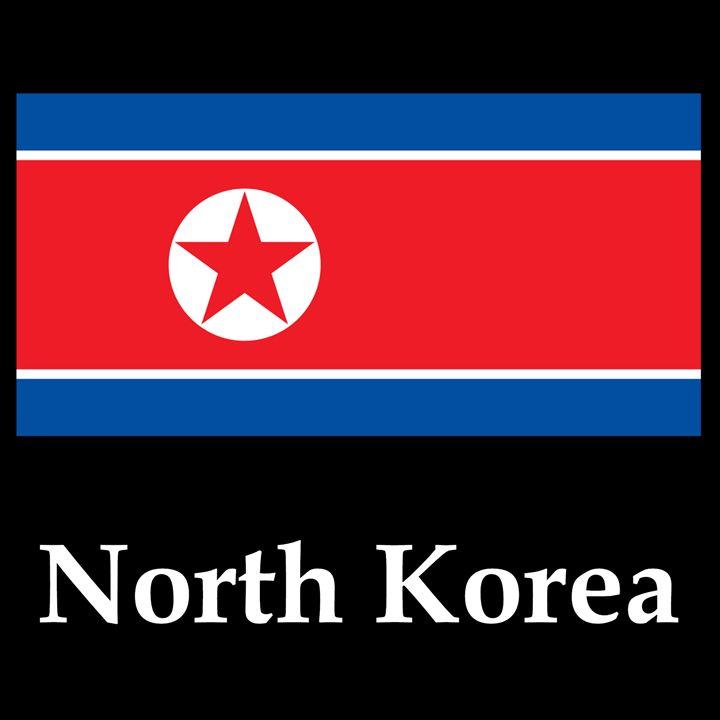 North Korea Flag And Name - My Evil Twin