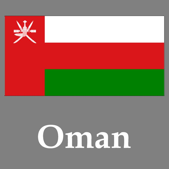 Oman Flag And Name - My Evil Twin