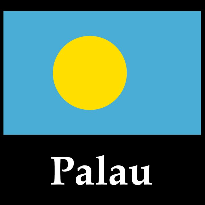 Palau Flag And Name - My Evil Twin