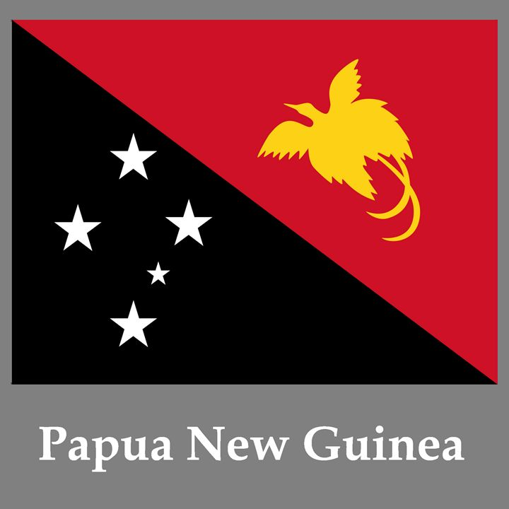 Papua New Guinea Flag And Name - My Evil Twin