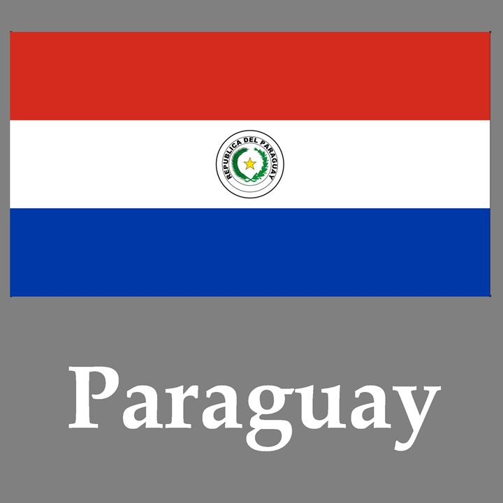 Paraguay Flag And Name - My Evil Twin