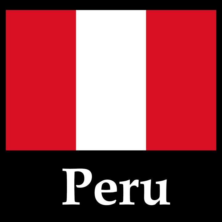 Peru Flag And Name - My Evil Twin
