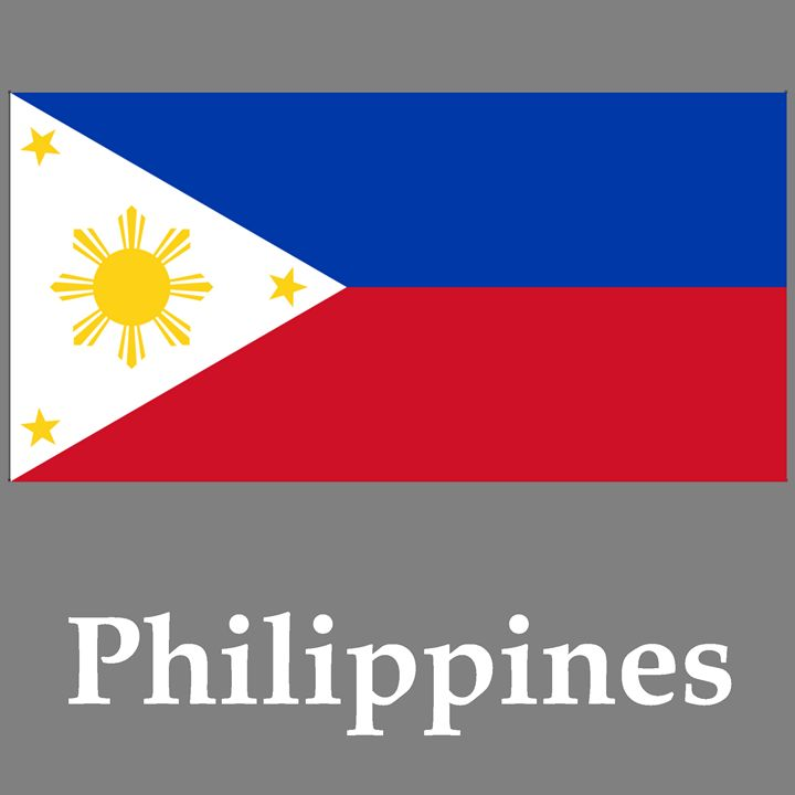 Philippines Flag And Name - My Evil Twin