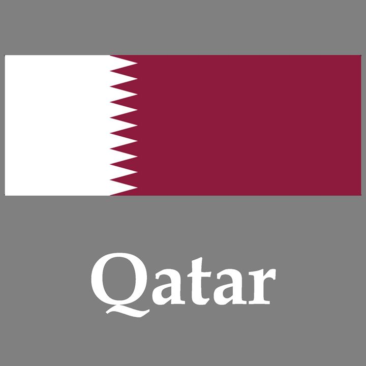 Qatar Flag And Name - My Evil Twin