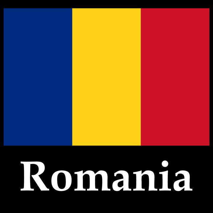 Romania Flag And Name - My Evil Twin