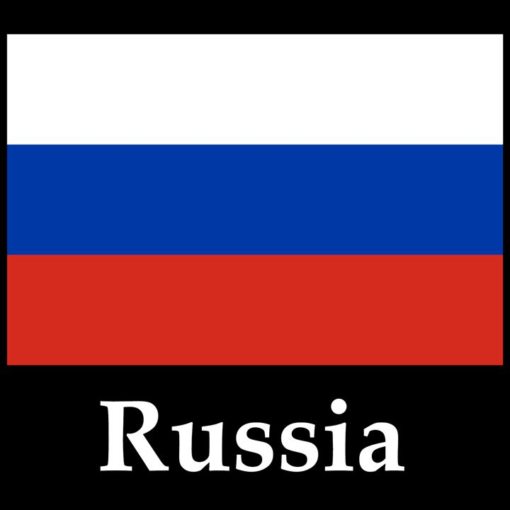 Russia Flag And Name - My Evil Twin