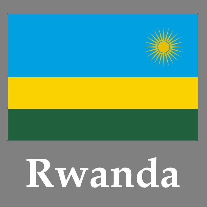 Rwanda Flag And Name - My Evil Twin