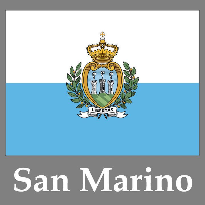 San Marino Flag And Name - My Evil Twin