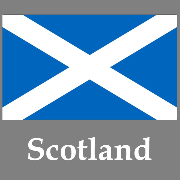 Scotland Flag And Name - My Evil Twin