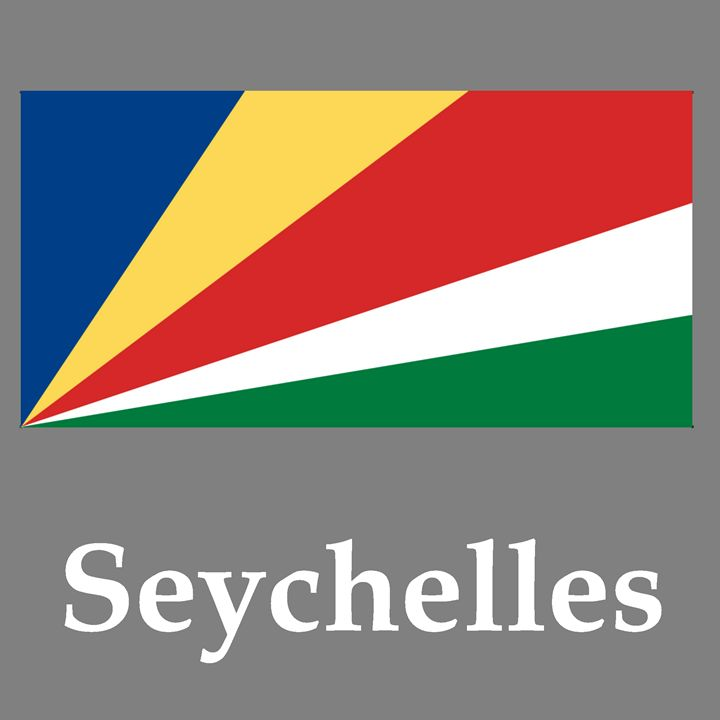 Seychelles Flag And Name - My Evil Twin