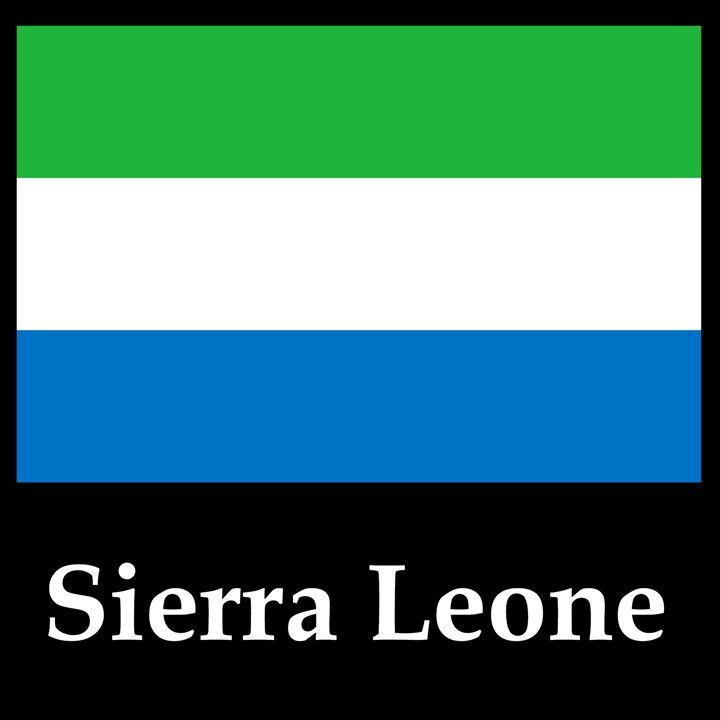 Sierra Leone Flag And Name - My Evil Twin