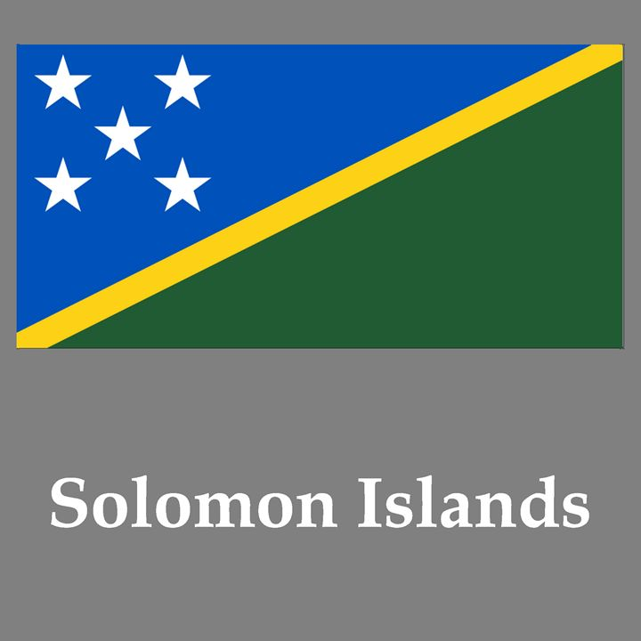 Solomon Islands Flag And Name - My Evil Twin