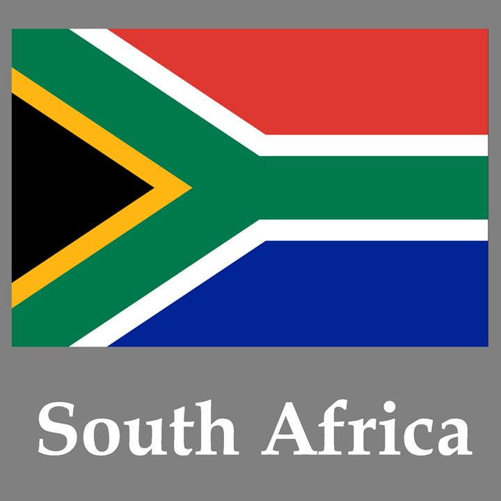 South Africa Flag And Name - My Evil Twin