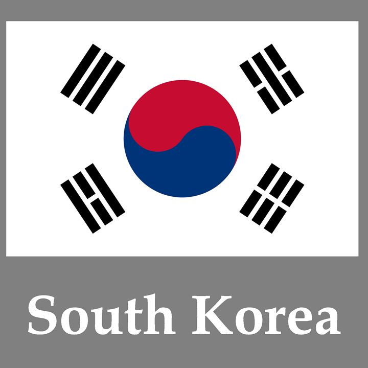 South Korea Flag And Name - My Evil Twin