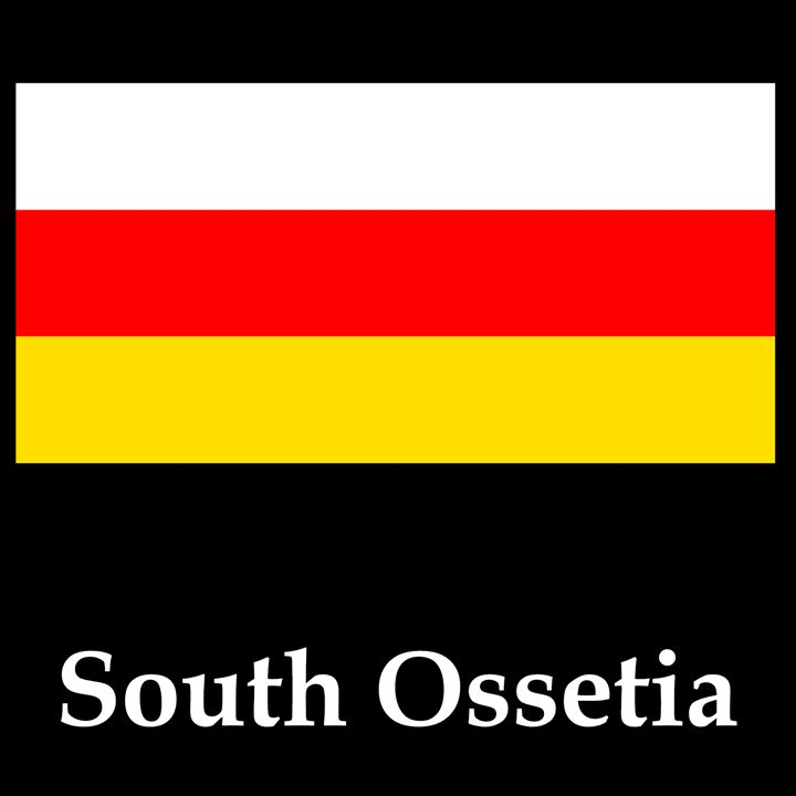 South Ossetia Flag And Name - My Evil Twin