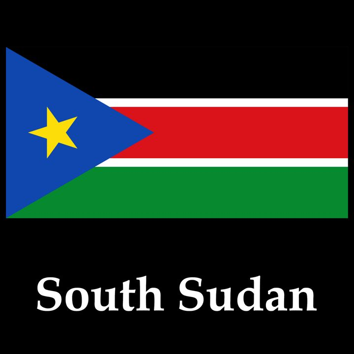 South Sudan Flag And Name - My Evil Twin