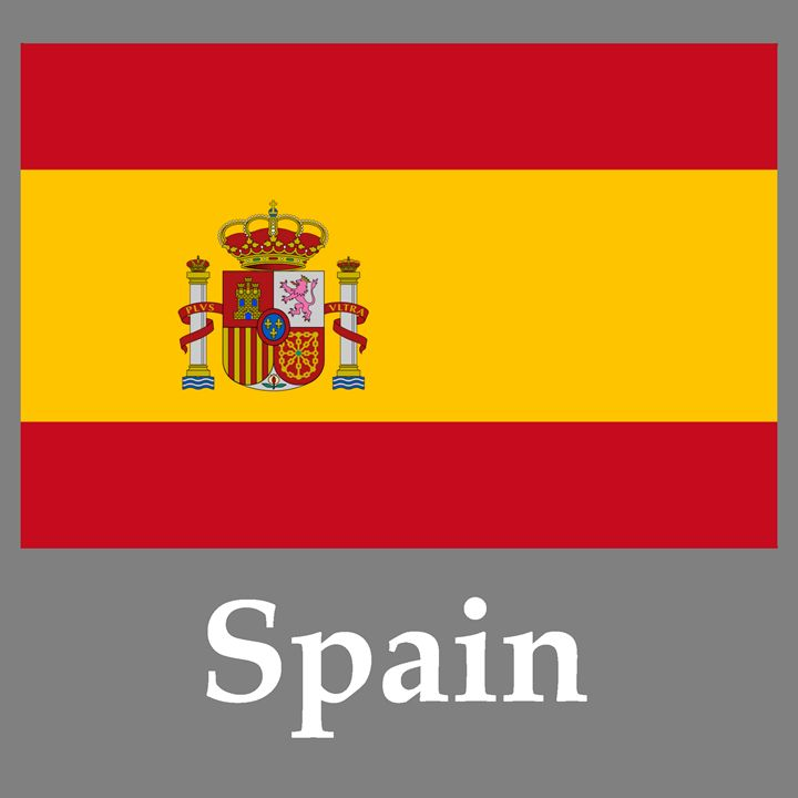 Spain Flag And Name - My Evil Twin