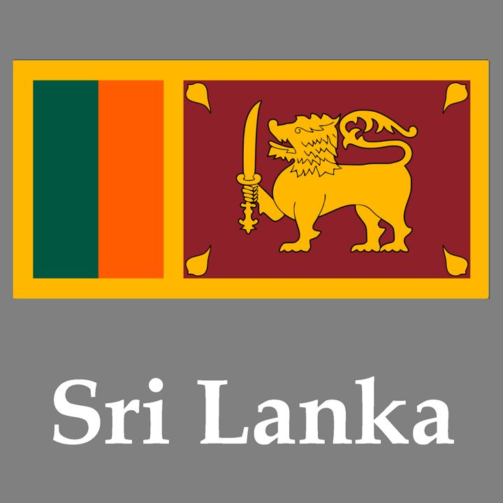 Sri Lanka Flag And Name - My Evil Twin