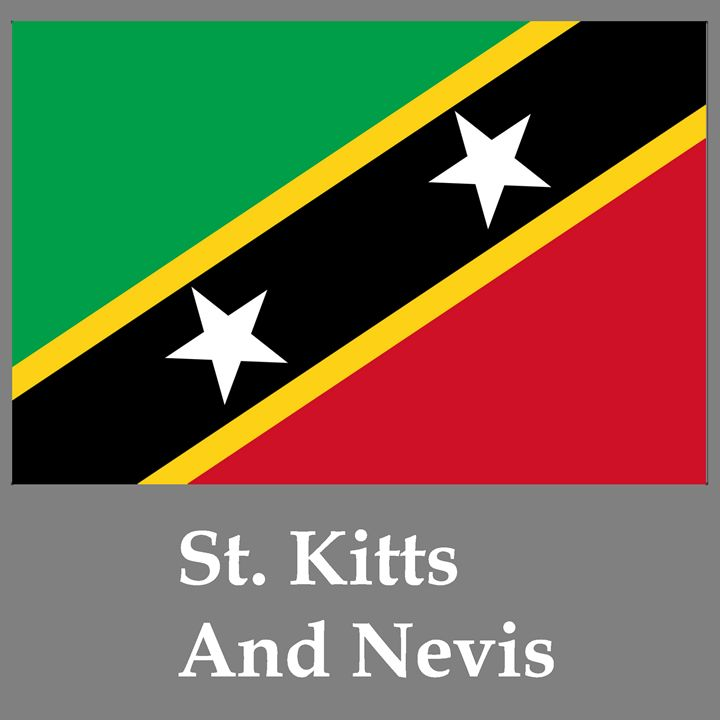 St. Kitts And Nevis Flag And Name - My Evil Twin