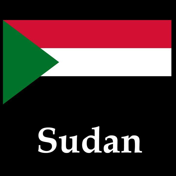 Sudan Flag And Name - My Evil Twin