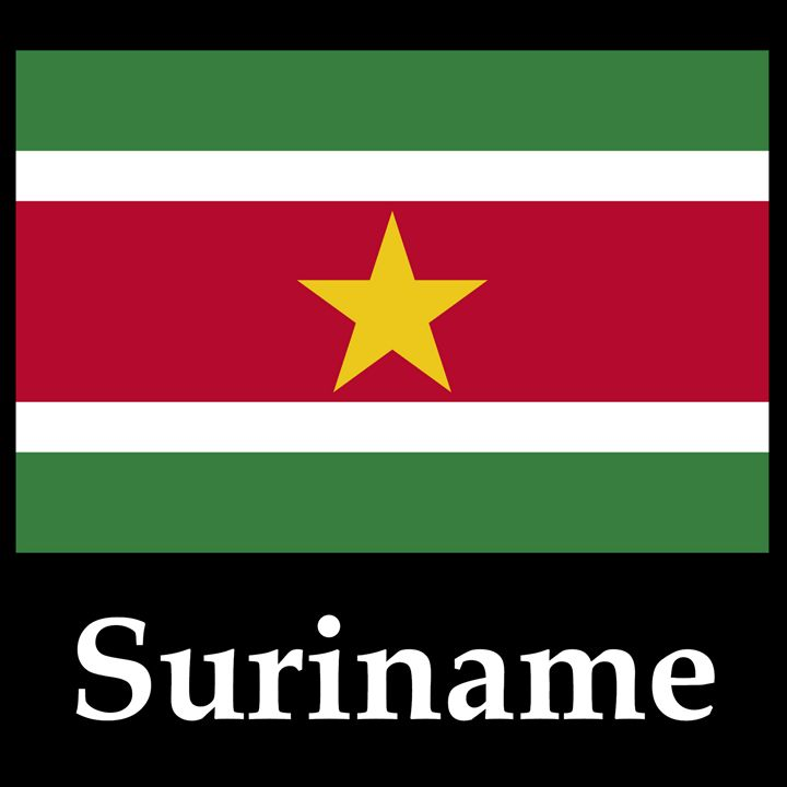 Suriname Flag And Name - My Evil Twin