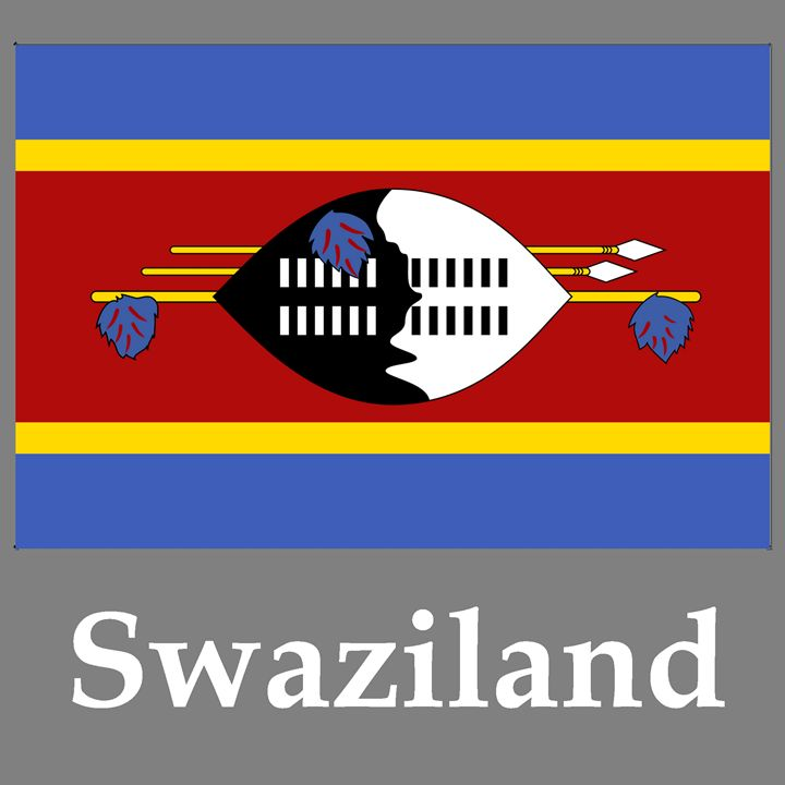 Swaziland Flag And Name - My Evil Twin