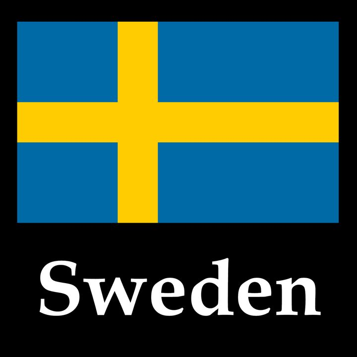 Sweden Flag And Name - My Evil Twin