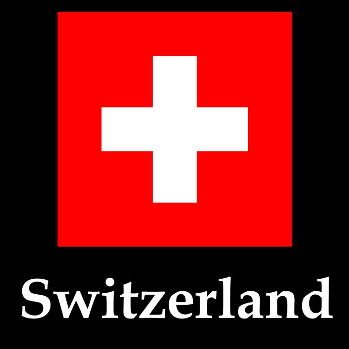 Switzerland Flag And Name - My Evil Twin